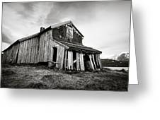Old Barn Greeting Card by Dave Bowman