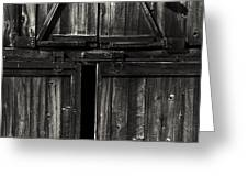 Old Barn Door - BW Greeting Card by Paul W Faust -  Impressions of Light
