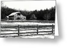 Old Barn In Franklin Tennessee Greeting Card by Janet King