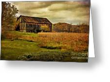 Old Barn In October Greeting Card by Lois Bryan
