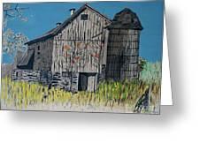 Old Barn Greeting Card by Linda Simon
