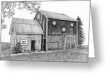 Old Barn Greeting Card by Sarah Batalka