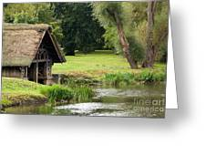 Old Boathouse Greeting Card by Rick Piper Photography
