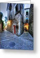 Old City Girona Greeting Card by Isaac Silman