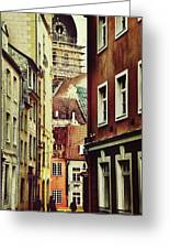 Old City Street Greeting Card by Gynt