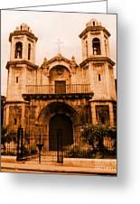 Old Colonial Church In Varadero Cuba Greeting Card by John Malone