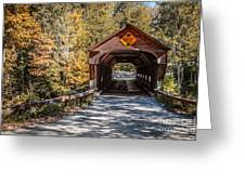 Old Covered Bridge Vermont Greeting Card by Edward Fielding
