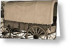 Old Covered Wagon Out West Greeting Card by Dan Sproul
