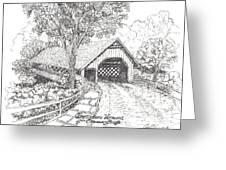 Old Creamery Bridge In Brattleboro Vermont Greeting Card by Carol Wisniewski