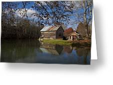 Old Creek Mill Greeting Card by Regina  Williams