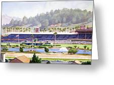 Old Del Mar Race Track Greeting Card by Mary Helmreich