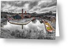 Old Dock Greeting Card by Adrian Evans