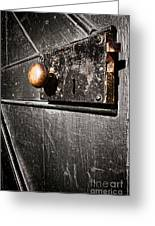 Old Door Lock Greeting Card by Olivier Le Queinec