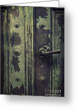 Old Door Greeting Card by Mythja  Photography