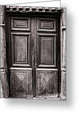 Old Door Greeting Card by Olivier Le Queinec