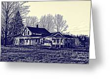 Old Farm House Greeting Card by Jim Lepard