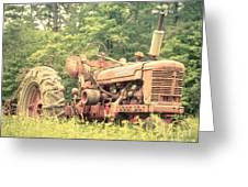 Old Farmall Tractor At Sunrise Greeting Card by Edward Fielding