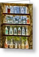 Old Fashioned Milk Bottles Greeting Card by Susan Candelario