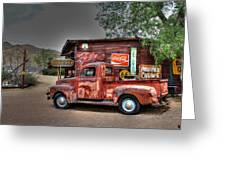 Old Ford Pickup On Route 66 Greeting Card by Lynn Jordan