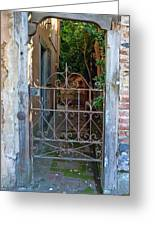 Old Gate Greeting Card by Lynn Bolt