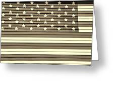 Old Glory  Sepia Greeting Card by Elizabeth Sullivan
