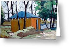 Old Golf Course Shed No.5 Greeting Card by Charlie Spear