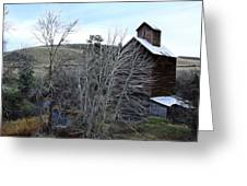 Old Grain Barn Greeting Card by Steve McKinzie