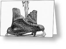 old hockey skates Greeting Card by Al Intindola