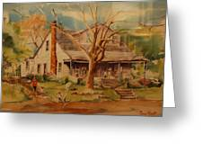 Old Home Greeting Card by Lynn Beazley Blair