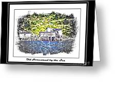 Old Homestead By The Sea Greeting Card by Barbara Griffin