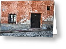 Old House Over Cobbled Ground Greeting Card by RicardMN Photography