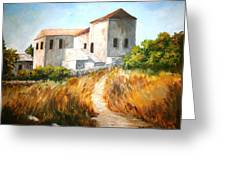 Old Houses Greeting Card by Constantinos Charalampopoulos