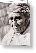Old Klamath Woman Circa 1923 Greeting Card by Aged Pixel