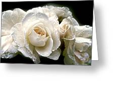 Old Lace Rose Bouquet Greeting Card by Jennie Marie Schell