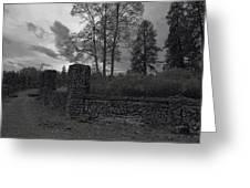 OLD LIBERTY PARK RUINS in Spokane Washington Greeting Card by Daniel Hagerman