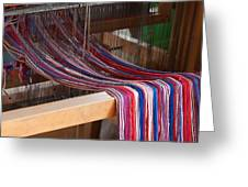 Old Loom For Yarn Greeting Card by Salvatore Meli