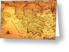Old Map Of Greece Greeting Card by Colin and Linda McKie