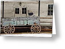 Old Mill And Wagon Greeting Card by Cheryl Cencich