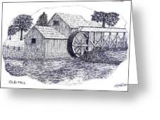 Old Mill Greeting Card by Frederic Kohli