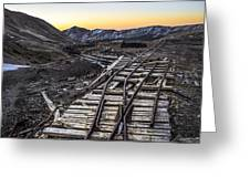 Old Mining Tracks Greeting Card by Aaron Spong
