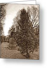Old North Church And Paul Revere Greeting Card by Joann Vitali