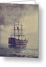 Old Pirate Ship Greeting Card by Jelena Jovanovic