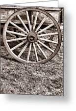 Old Prairie Schooner Wheel Greeting Card by American West Legend By Olivier Le Queinec