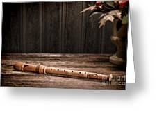 Old Recorder Greeting Card by Olivier Le Queinec