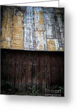 Old Rusty Tin Roof Barn Greeting Card by Edward Fielding
