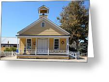 Old Sacramento California Schoolhouse 5D25544 Greeting Card by Wingsdomain Art and Photography