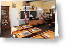 Old Sacramento California Schoolhouse Classroom 5d25780 Greeting Card by Wingsdomain Art and Photography