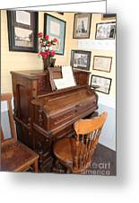 Old Sacramento California Schoolhouse Piano 5d25783 Greeting Card by Wingsdomain Art and Photography