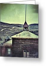 Old Schoolhouse Greeting Card by Jill Battaglia
