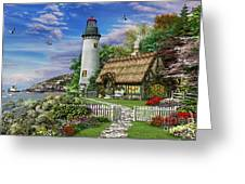Old Sea Cottage Greeting Card by Dominic Davison
